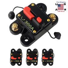 60/100/300Amp Dc Circuit Breaker Car Auto Marine Stereo Audio Fuse Dc 12V