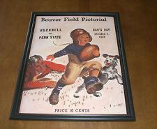 1939 BUCKNELL vs PENN STATE PROGRAM FRAMED 11x14 PRINT - BEAVER FIELD