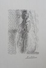 Pablo PICASSO (d'après) : Femme nue de face - LITHOGRAPHIE signée #1200ex