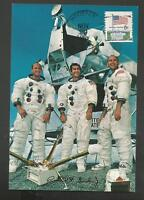 APOLLO 12 PRIME CREW MEMBERS CONRAD,GORDON,BEAN NOV 29 ,1969 HOU  POSTCARD