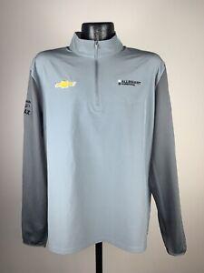 Men's Nike Golf Dri-Fit Ed Carpenter Racing Gray Quarter Zip Pullover Large