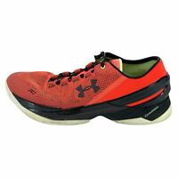 Under Armour Mens Curry 2 Low 1264001-984 Red Basketball Shoes Lace Up Size 11.5