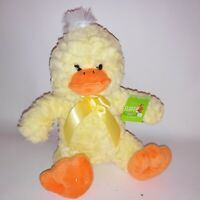 "Easter Chick Duck Stuffed Plush Sitting Farm Animal Yellow Orange 10"" Kids Toy"