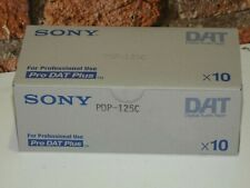 10 x Brand New  Sony PDP-125C, 125 Minute DAT Digital Audio Tapes Cassettes