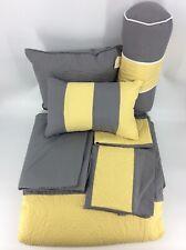 Chezmoi Collection 7-piece Sunvale King Yellow Grey White Comforter Bedding Set