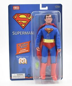 """Worlds Greatest MEGO Heroes - DC Comics - Superman  8"""" Scale Action Figure"""