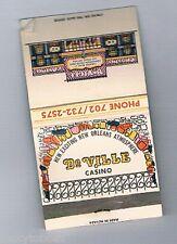 DeVille Hotel Casino New Orleans Atmosphere Matchbook Las Vegas Nevada