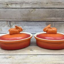 Ramekin Brulee Dish New Swiss Pro Cookware Orange Rabbit Mini Casserole Oval