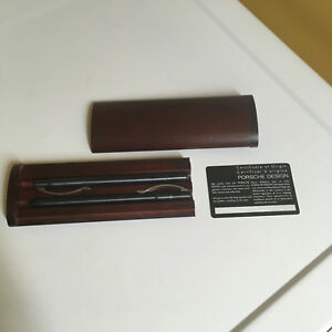VINTAGE PORSCHE DESIGN ARC FOUNTAIN & BALLPOINT PEN SET IN ORIGINAL WOOD BOX!