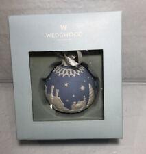 Vintage Wedgewood Ornament Blue Jasperware in Original Box