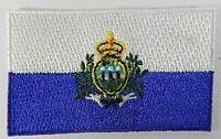 San Marino Aufnäher gestickt,Flagge Fahne,Patch,Aufbügler,6,5cm,neu