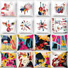 HK- 18'' Art Musical Print Throw Pillow Case Cushion Cover Home Sofa Car Decor G