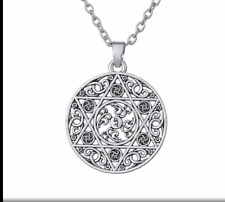 Star David Circle Knot Irish Wicca Necklace