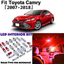 14 x Red Interior LED Lights Package Kit for Toyota Camry 2007 - 2016 2017 2018
