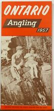1957 Ontario Canada Angling Fishing vintage informational brochure b