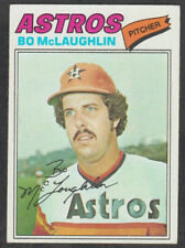 Houston Astros Bo McLaughlin 1977 Topps Baseball Card 184 ex/em