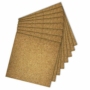 CORK TILES NATURAL SELF ADHESIVE 300X300MM 4MM THICK FOR FLOOR WALL DIY