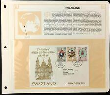 Swaziland 1981 Royal Wedding FDC + Info Page #V6442