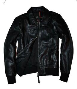 Superdry | INDIE CLUB | Leather Jacket | Black | Medium | RRP £199.99