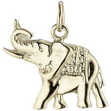 NEU Luxus Anhänger Elefant echt Gold 585er 585 Gelbgold 14 Karat Kettenanhänger