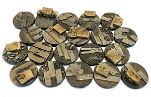 32mm War Zone Trench, resin bases, Sci-fi fantasy DKK Qty10-50 unpainted
