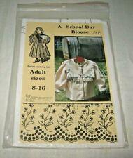 PRAIRIE CLOTHING CO~A SCHOOL DAY BLOUSE~SIZES 6-16~FF~UNCUT~NIP~RARE!!~1989