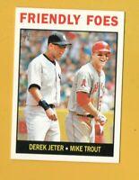 8877  2013 Topps Heritage #41 Derek Jeter YANKEES Mike Trout ANGELS