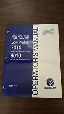 New Holland 7010 8010 Tractor Operators Manual Part 86579557