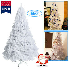 5ft Unlit White Artificial Christmas Halloween Pine Tree Party Holiday Decor