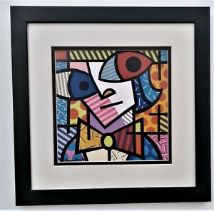 Romero Britto The Unexpected Pop Art Sign Framed