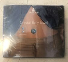 Blue & Clear Crystals New Swarovski Crystal Belly Jewel 2 Pack