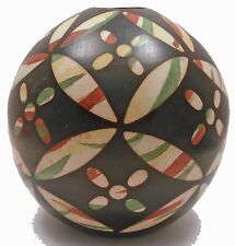 Signed Suyon HAND-CRAFTED CERAMIC SPHERE Chulucanas, Peru, Pottery 1538