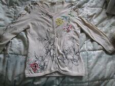 Karen millen cardigan size 1 floral  embroidered cream