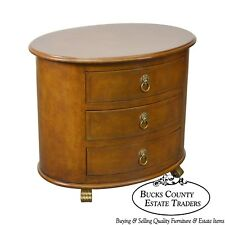 Palmer Home Collection by Lexington Regency Style Oval Leather 3 Drawer Chest