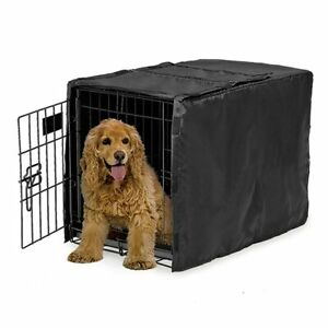 Dog Cage Cover Case Black Sunscreen Kennel Pet Outdoor Sun Wind Shield Dustproof