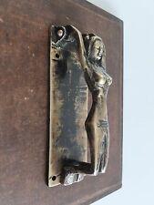 VINTAGE ANTIQUE Hand Made Solid Brass Sculpture Door KNOCKER