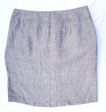 NWOT ASOS Size 14 Skirt Grey Linen Blend Pencil Chic Office Above Knee Length