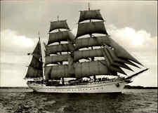 Schiffsfoto-AK ~1960 Schiff Segelschulschiff Segelschiff GORCH FOCK Sailing-Ship