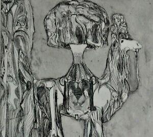Herbert GRUNWALDT, 1928-2014, Radierung 1964: DAS PRINZESSLEIN /auf Kamel SELTEN