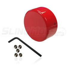 """Aluminum Rear Axle """"Double Nut"""" Cover for the Polaris Slingshot (Red)"""