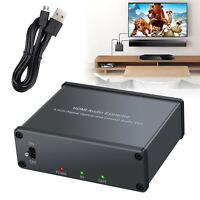 HDMI to HDMI Optical Spdif Coaxial Audio Extractor TOSLINK Converter Adapter 4K
