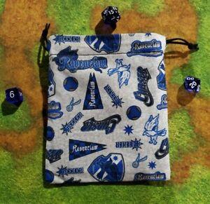 Harry Potter Ravenclaw Pride Dice Bag, Card Bag, Makeup Bag, Small Gift Bag