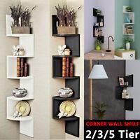 Floating Wall Shelves Corner Shelf Storage Display Bookcase Kids Room Tier Decor