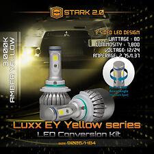 80W 7800LM Flip COB LED Kit 3000K Yellow Light Bulbs Fog Lights Bulbs - 9006 HB4