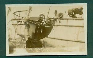 """SOPHIE"" AFTER COLLISION WITH S S LAURA APRIL 1910,vintage postcard"