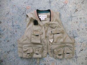 Columbia PFG Fly Fishing Vest ,Mens XL, Khaki Tan