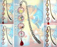 BEAUTY AND THE BEAST Bookmark Book Mark Pendant Disney & Belle Princess Rose