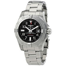 Breitling Avenger II Seawolf Grey Dial Stainless Steel Automatic Mens Watch
