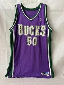 Dan Gadzuric Game Used Milwaukee Bucks Reebok Jersey- Rookie Year 2002-03