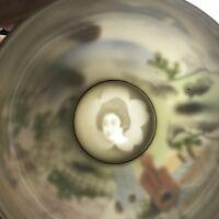 Vintage Japanese Porcelain Geisha Girl Lithophane Teapot Set - 8 Pieces